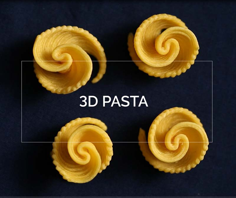 3D Food Printing. Creating Shapes And Textures (Impresión
