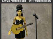 Amy Winehouse, impresa en 3D